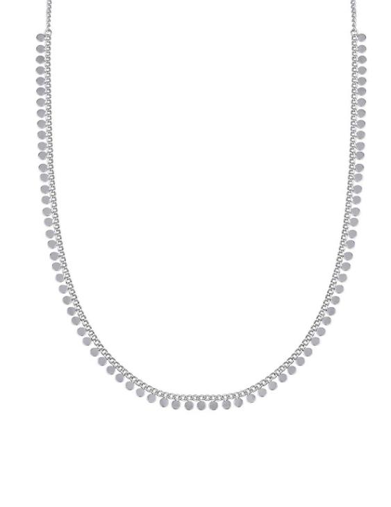 Collar VIDAL&VIDAL X2581538 Metal Antialérgico con Baño de Plata Mujer